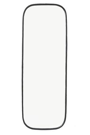 Gehamerde spiegel - zwart