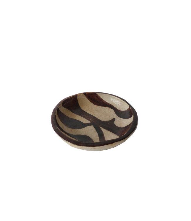 Schaal 'Terra' gebakken klei - naturel/bruin