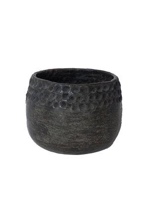 Pot 'Dots' terracotta - black