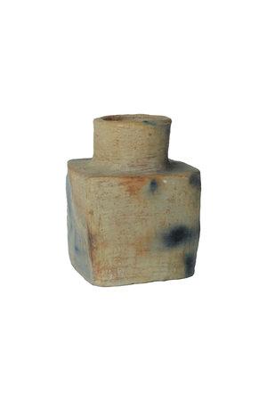 Vase 'Square' terracotta - natural
