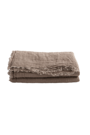 Maison de Vacances Throw vice versa fringed - taupe