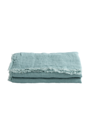 Maison de Vacances Throw vice versa fringed - aqua