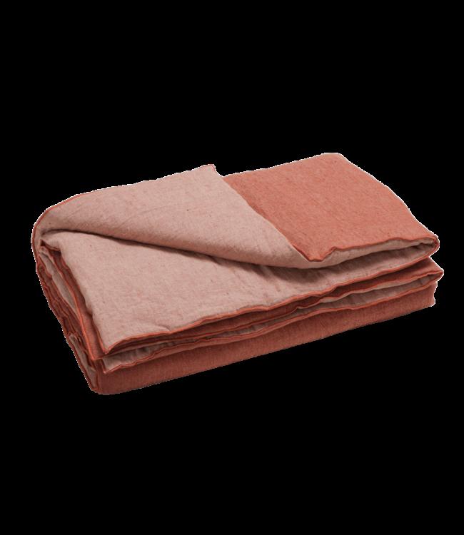 Comforter cocoon vice versa, crumpled washed linen - argile/givré