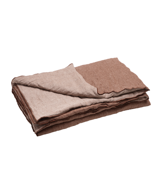 Comforter cocoon vice versa, crumpled washed linen - blush/givré
