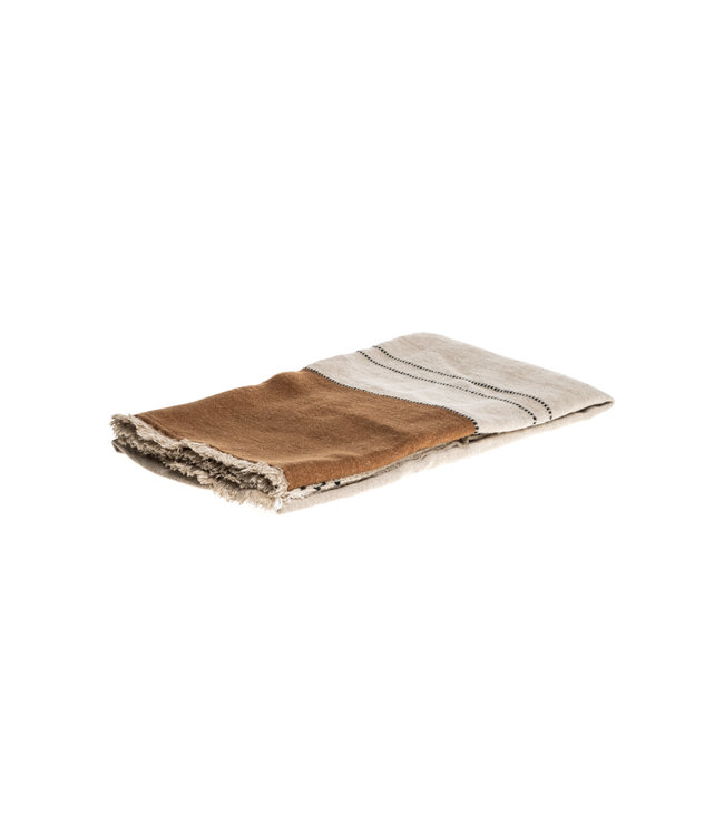Libeco Foundry plaid - beeswax stripe
