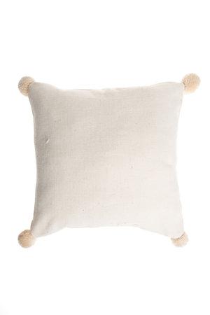 Cushion Bayeta pompom - ecru