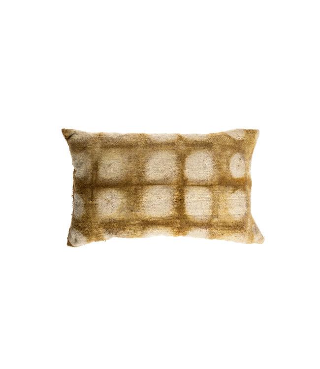 Cushion Bayeta dots - rhubarbe