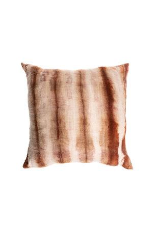 Cushion Bayeta lines - marron