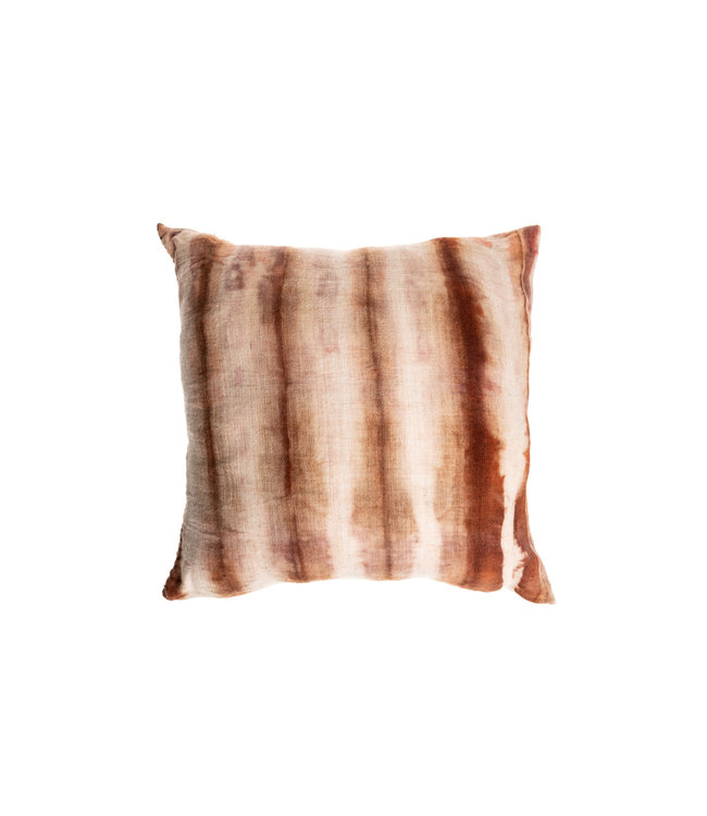 Cushion Bayeta lines - marron