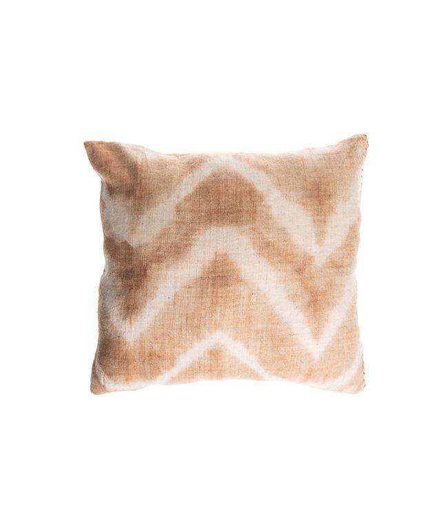 Cushion Bayeta fishbone - cachou