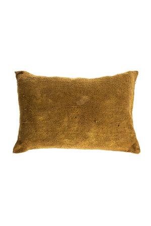 Cushion Bourrette de soie unie - rhubarbe