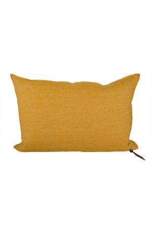 Maison de Vacances Cushion vice versa, lin lavé froissé - ocre/givré