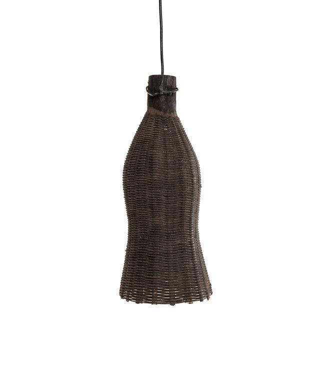 Vintage fishtrap lamp, brown