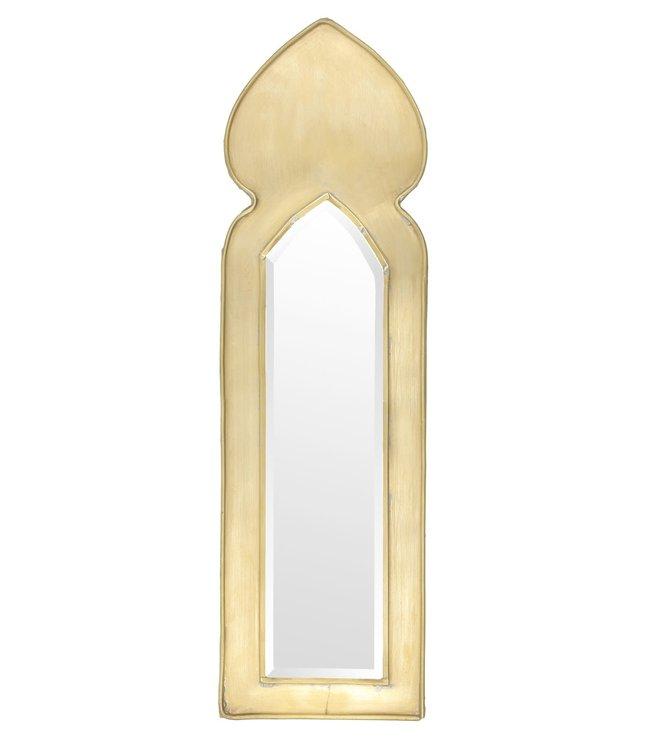 Brass mirror Neka L - gold