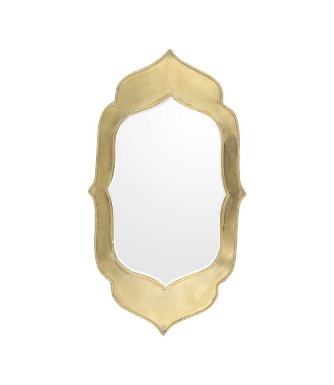Spiegeltje messing  Neka M - goud