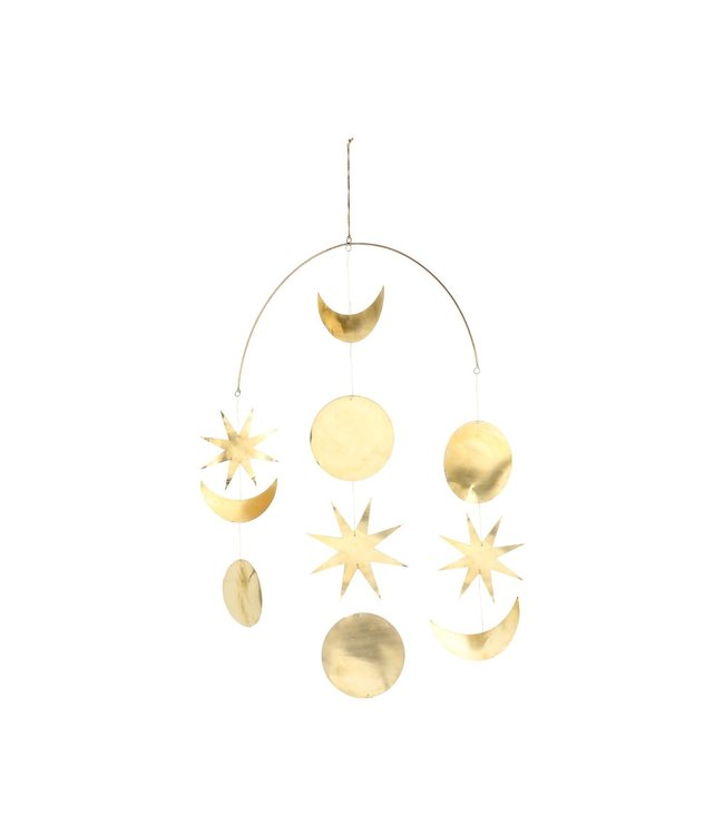 Caravane Gold-plated brass mobile - small