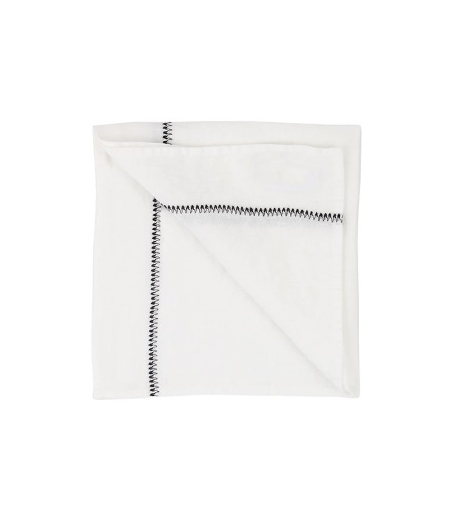 Caravane Napkin Noé, washed linen - neige