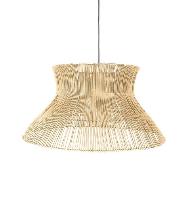 Rattan hanging lamp 'Halo' - natural