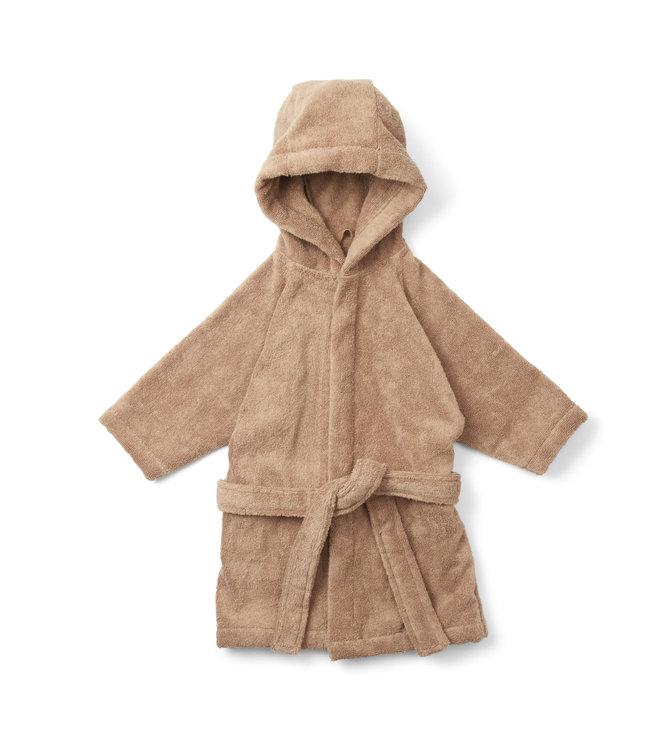 Terry bathrobe - beige tan