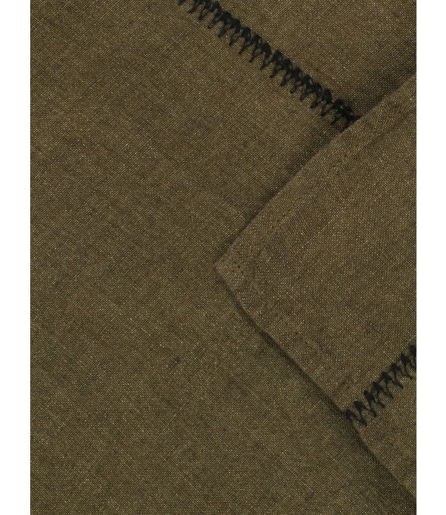 Tablecloth  Noé, washed linen - laurier