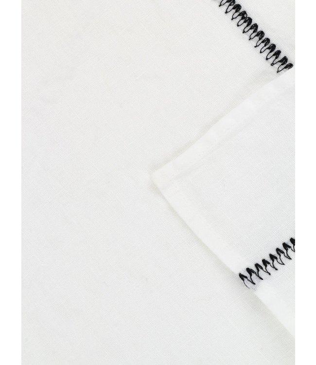 Tablecloth Noé, washed linen - neige