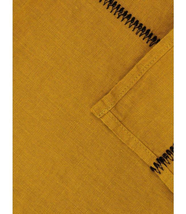 Tafelkleed Noé, gewassen linnen - mordore