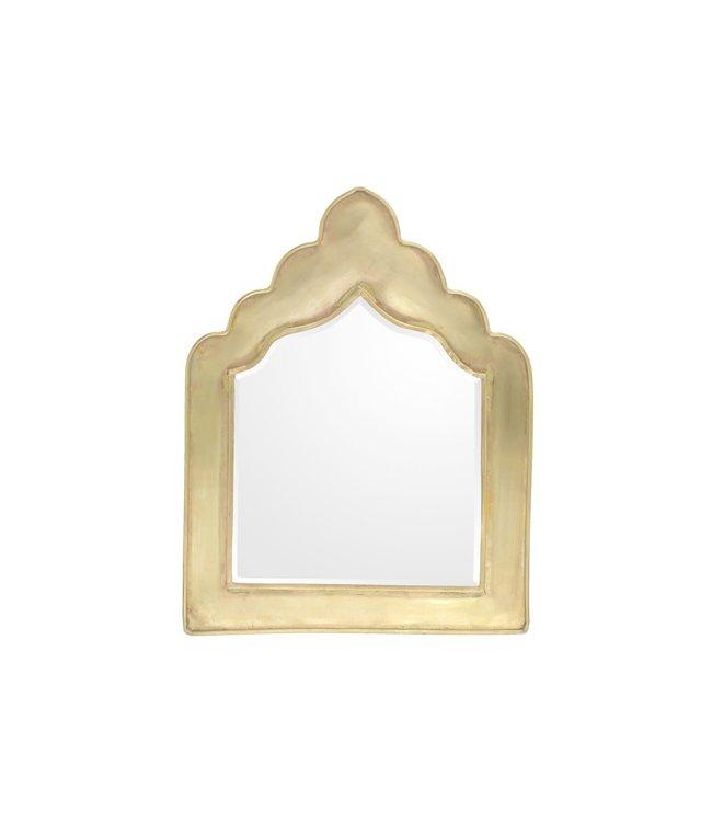 Brass mirror Neka S - gold