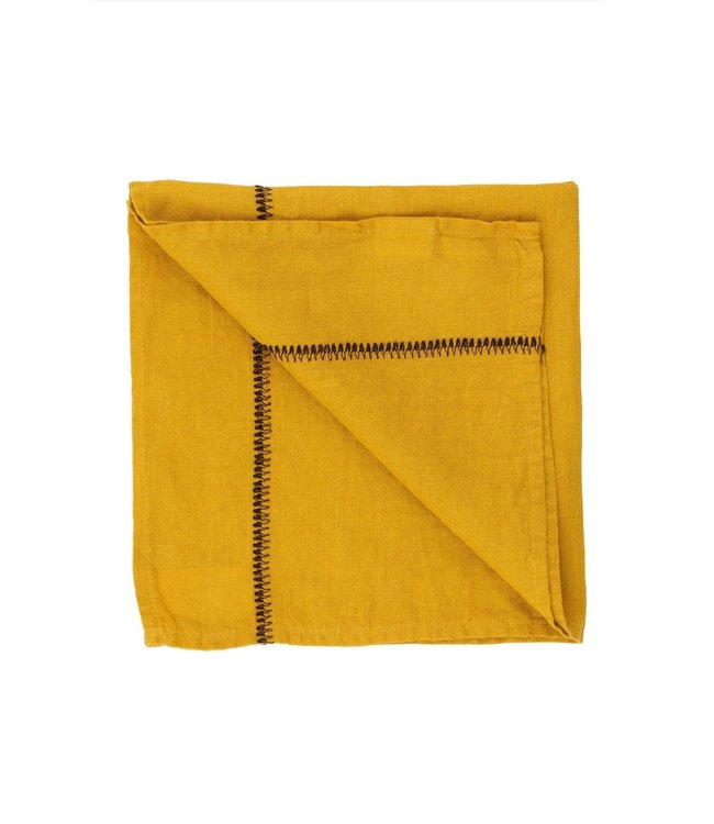Caravane Servet Noé, gewassen linnen - mordore