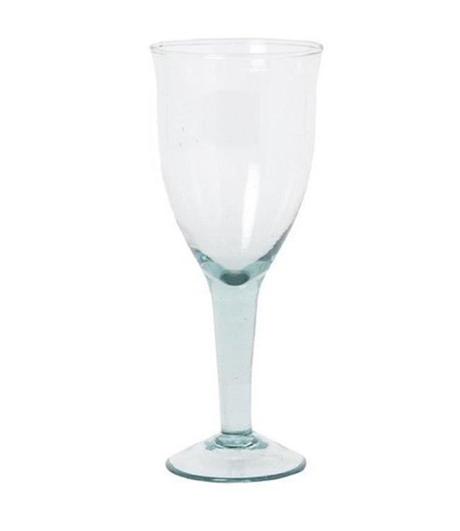 Recycled wine glas 'Hera' - ecume - large