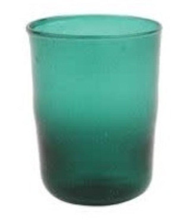 Bubble recycled water glass 'Hera' - emeraude