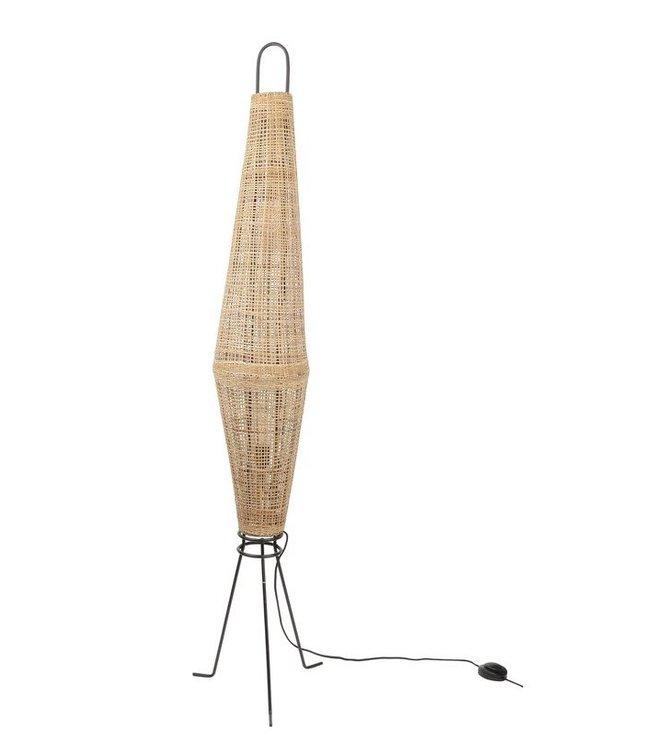 Vloerlamp 'Naasha', rotan - naturel