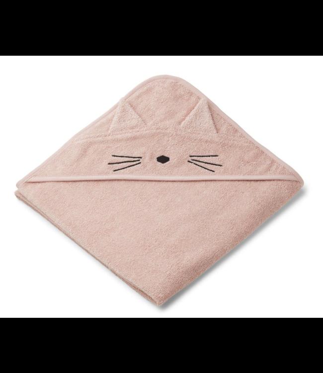 Liewood Augusta hooded towel - cat rose