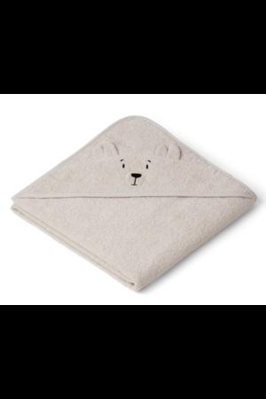 Liewood Augusta hooded towel - polar bear sandy