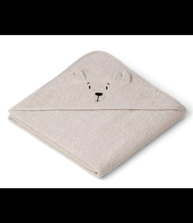Liewood Augusta handdoek met capuchon - polar bear sandy