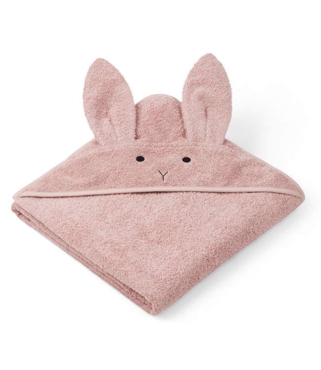 Liewood Augusta handdoek met capuchon - rabbit rose