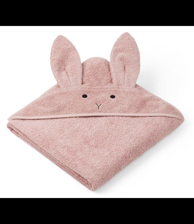 Liewood Augusta hooded towel - rabbit rose