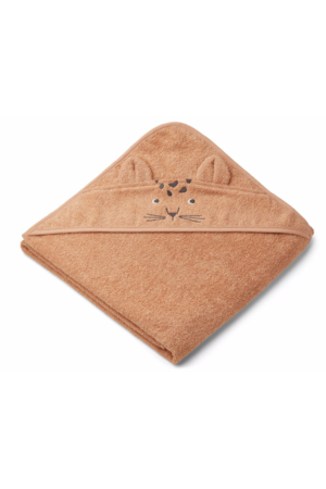 Liewood Augusta hooded towel - leopard apricot
