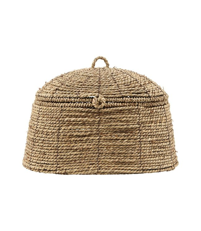 Basket with lid 'Rama' - natural