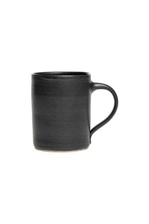 Black gres mug