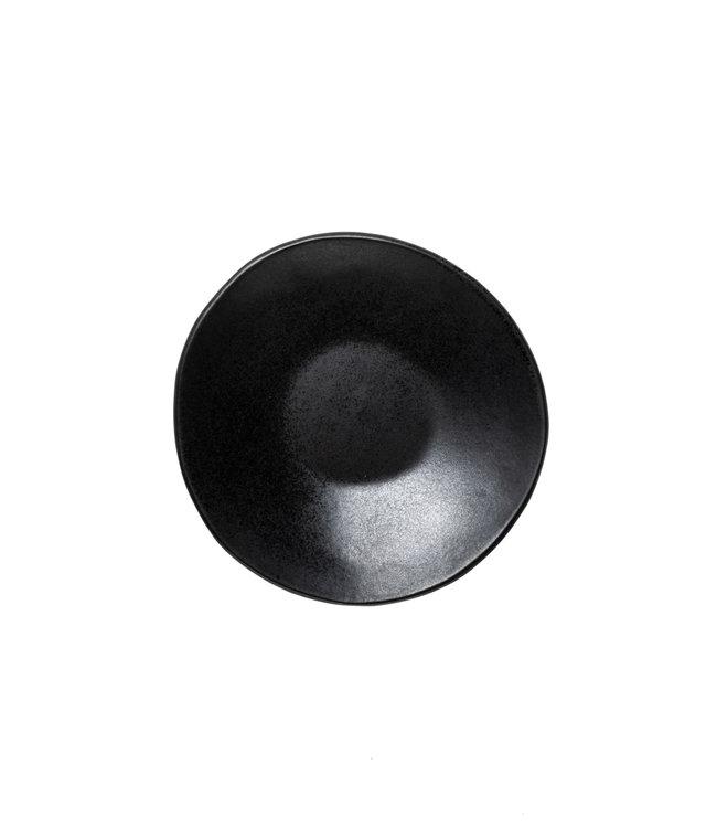 Black gres soup plate