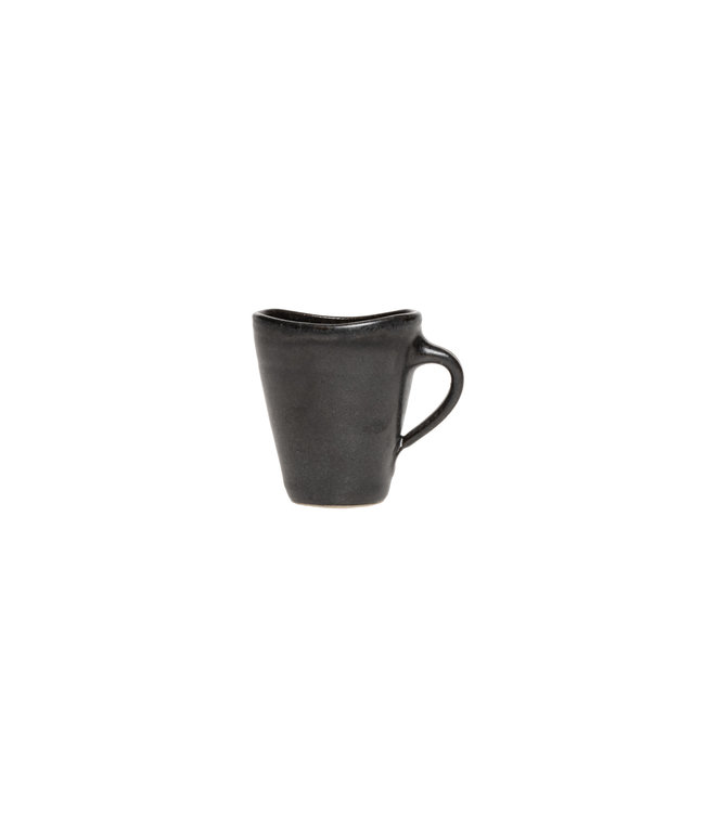 Smooth black gres coffee cup