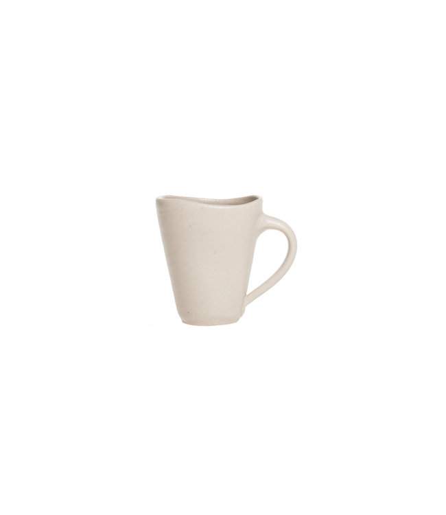 Smooth gres small coffee cup - white