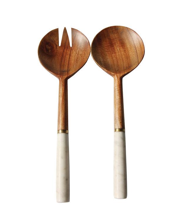 Slabestek marmer & hout met gouden randje
