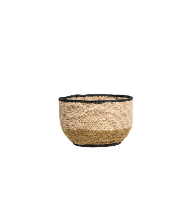 Mand desert - zwart/naturel/goud S