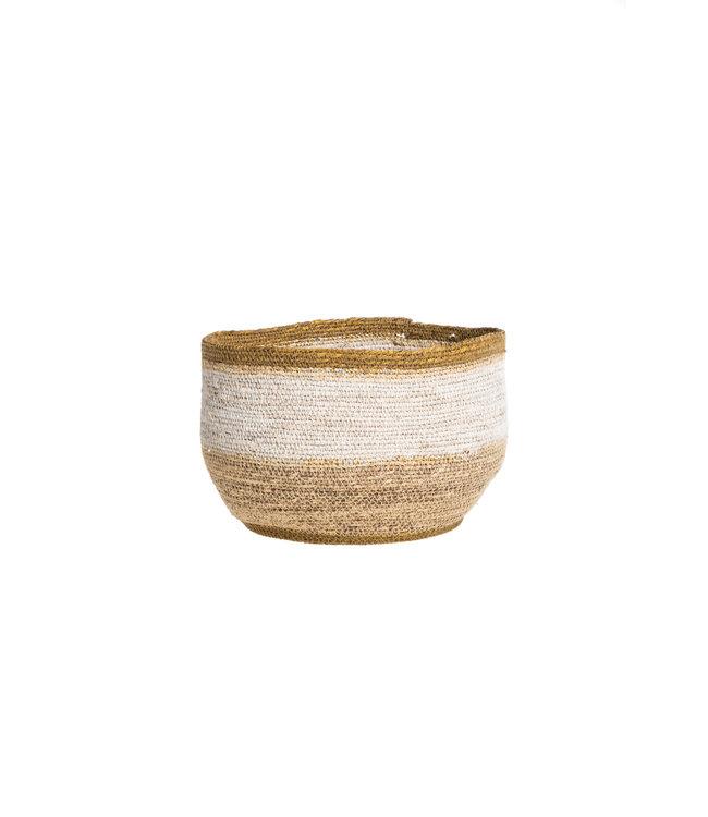 Basket desert - white/nat/gold M