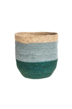 Basket Nile - green/nat/blue #2