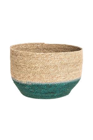 Basket Nile - green/nat/blue S