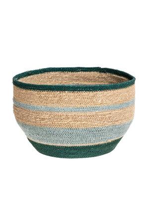 Basket Nile - green/nat/blue M