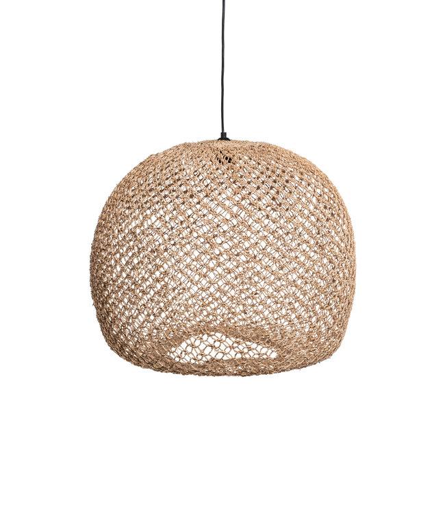 Hanging lamp 'Balbi' banana fibres - natural boule XL