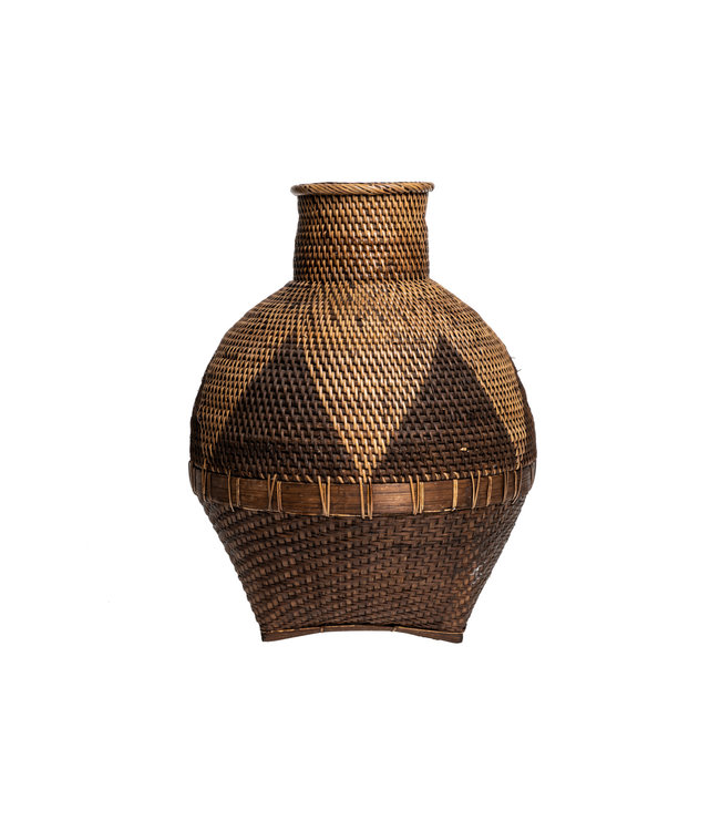The colonial vase - natural brown